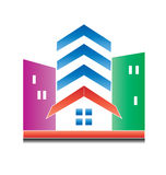 Real estate modern buildings logo Royalty Free Stock Images