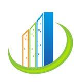 Real estate modern buildings logo  Royalty Free Stock Image