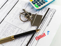 Real Estate Mortgage Approved Loan Agreement Stock Image