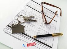 Real Estate Mortgage Approved Loan Agreement Royalty Free Stock Photography