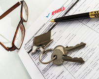 Real Estate Mortgage Approved Loan Agreement Stock Photo