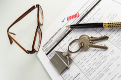Real Estate Mortgage Approved Loan Agreement Royalty Free Stock Image