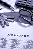 Real Estate Mortgage Document on Lender Desk Royalty Free Stock Images