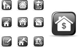 Real estate and mortgage icons set Royalty Free Stock Photos