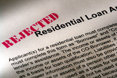 Real Estate Mortgage Loan Application Rejected stock photo