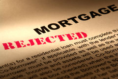 Real Estate Mortgage Loan Document Rejected Royalty Free Stock Photography