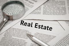 Real estate news Stock Photo