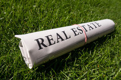Real estate newspaper Royalty Free Stock Images