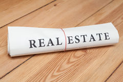 Real estate newspaper Stock Photography