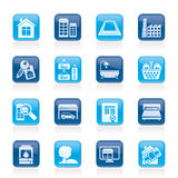 Real Estate objects and Icons. Vector Icon Set Stock Image