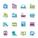 Real Estate objects and Icons stock illustration