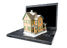 Real Estate Online. On white Royalty Free Stock Photography