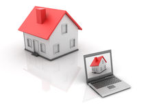 Real Estate - Online House Stock Images