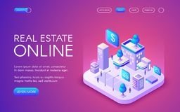 Real estate online vector illustration vector illustration