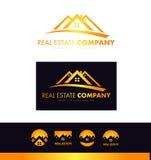 Real estate orange house roof logo icon design Royalty Free Stock Images