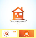 Real estate orange logo Royalty Free Stock Photo
