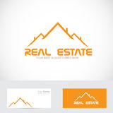 Real estate orange roof logo Royalty Free Stock Image