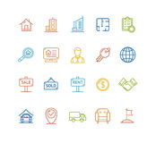 Real Estate Outline Icon Set. Vector Royalty Free Stock Photo