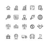 Real Estate Outline Icon Set. Vector Stock Photography
