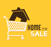 Real estate over yellow background vector illustration Stock Photography