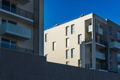 Herblay - Modern architecture for new real estate programs Royalty Free Stock Photography