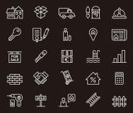 Real Estate-pictogrammen Stock Afbeelding