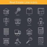 Real Estate-pictogrammen Stock Foto