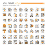 Real Estate-pictogrammen stock illustratie