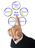 Real Estate. Presenting diagram of Real Estate Stock Images
