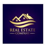 Real Estate Property Company Logo. Real Estate  logo design template. House abstract concept icon Royalty Free Stock Photos