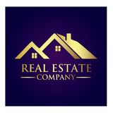 Real Estate Property Company Logo. Real Estate  logo design template. House abstract concept icon Royalty Free Stock Photography