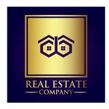 Real Estate Property Company Logo. Real Estate  logo design template. House abstract concept icon Stock Images
