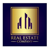 Real Estate Property Company Logo. Real Estate  logo design template. House abstract concept icon Royalty Free Stock Image