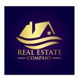 Real Estate Property Company Logo. Real Estate  logo design template. House abstract concept icon Stock Photography