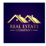 Real Estate Property Company Logo. Real Estate  logo design template. House abstract concept icon Stock Image