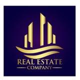 Real Estate Property Company Logo. Real Estate  logo design template. House abstract concept icon Stock Photos