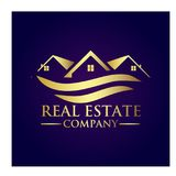 Real Estate Property Company Logo. Real Estate  logo design template. House abstract concept icon Royalty Free Stock Photo