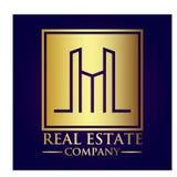 Real Estate Property Company Logo. Real Estate  logo design template. House abstract concept icon Stock Photo