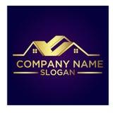Real Estate Property Company Logo. Real Estate vector logo design template. House abstract concept icon Stock Image