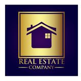Real Estate Property Company Logo. Real Estate vector logo design template. House abstract concept icon Royalty Free Stock Images