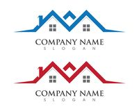 Property and Construction Logo Royalty Free Stock Photography