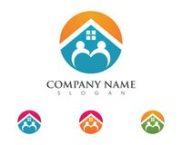 Property and Construction Logo Royalty Free Stock Photo