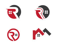 Real Estate , Property and Construction Logo design. For business corporate sign Stock Image