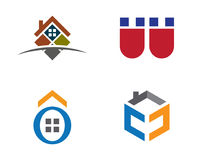 Real Estate , Property and Construction Logo design Royalty Free Stock Image