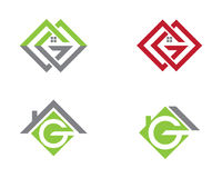 Real Estate , Property and Construction Logo design Stock Photography