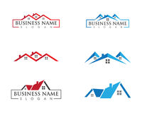 Real Estate , Property and Construction Logo design Stock Photo