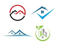 Real Estate Property and Construction Logo design for business corporate sign Royalty Free Stock Image