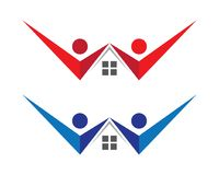 Property and Construction Logo Stock Image