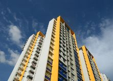 Real Estate Property. Highrise residential real estate property in Singapore Royalty Free Stock Photography