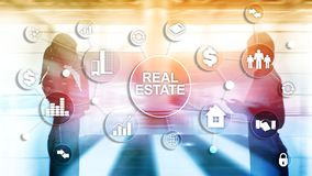 Real estate. Property insurance and security concept. Abstract business background stock photos